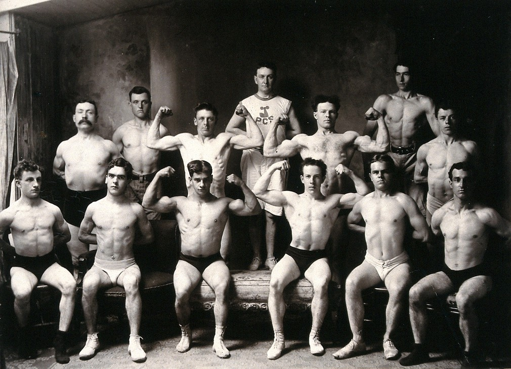 Male body-builders