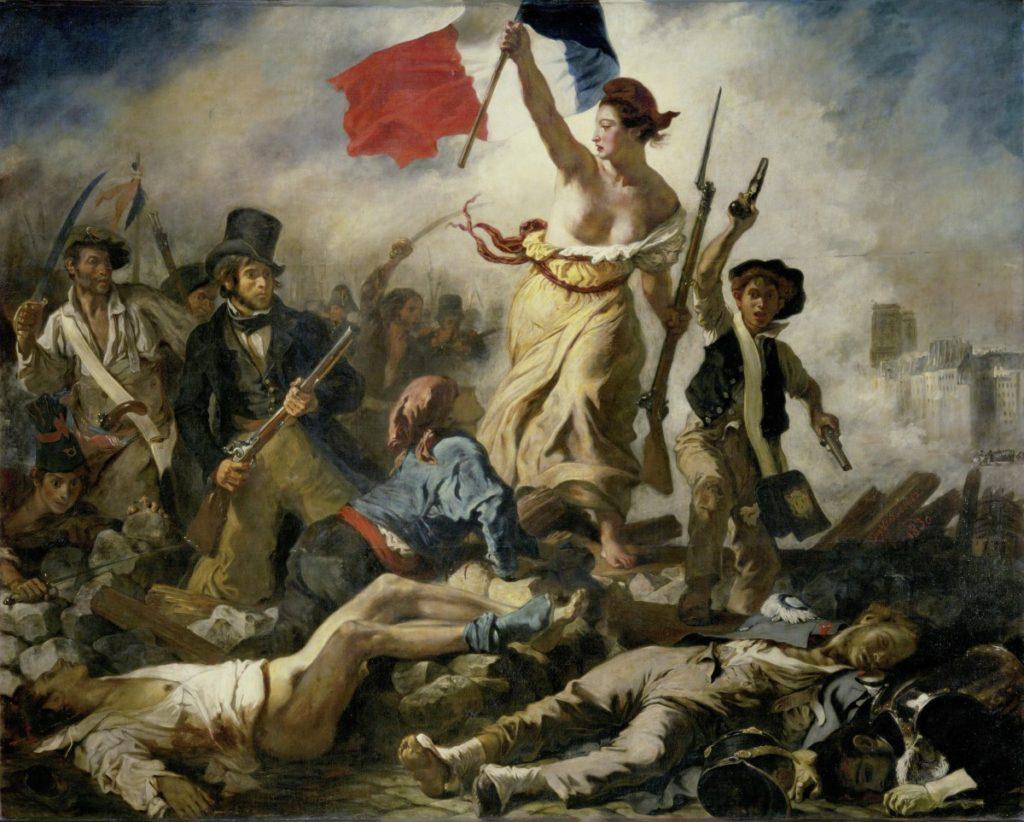 La liberté guidant le peuple. Tableau d'Eugène Delacroix